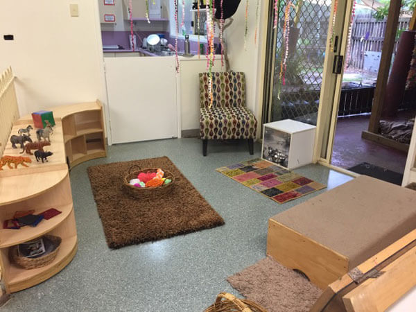Infant indoor play area at Rainbow Valley