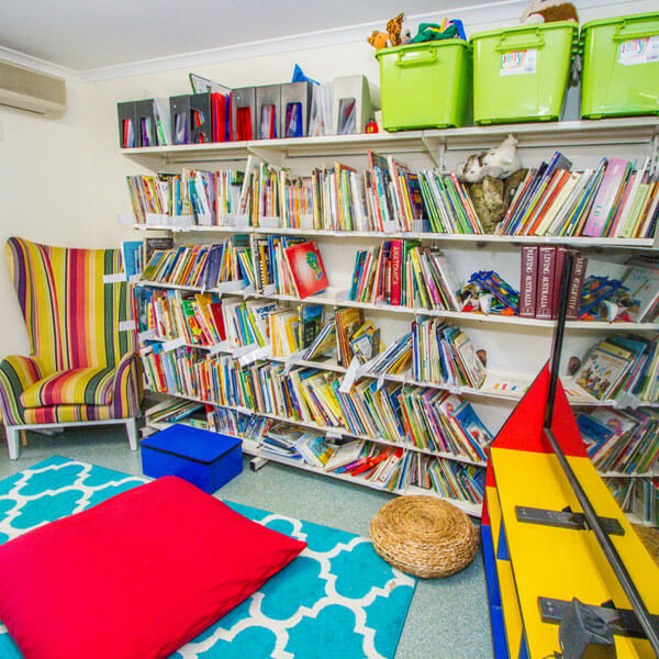Library at Rainbow Valley Kindergarten Gladstone